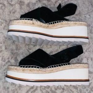 Marc Fisher Platform Slingback Sandals